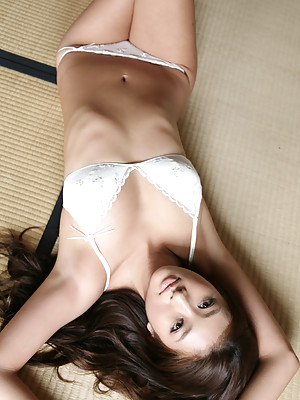 Sayaka Ando Asian is extremely fascinating in sexy lingerie